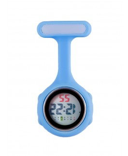Reloj de bolsillo digital para enfermeras Azul
