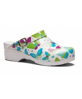 Toffeln Flexi Clog Butterfly