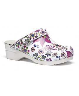 Toffeln Flexi Clog Floral