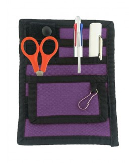 Organizador de bolsillo Negro/Violeta + accesorios GRATIS