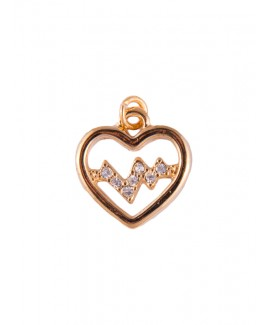 Colgante Latido de Corazón Dorado (pequeño)
