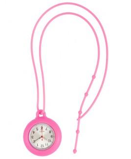 Reloj colgante para enfermeras de silicona Rosa