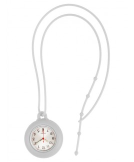 Reloj colgante para enfermeras silicona blanco