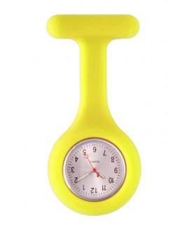Reloj Enfermera Silicona estándar Amarillo