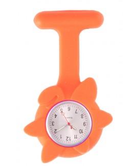 Reloj Enfermera Flor Primavera Naranja