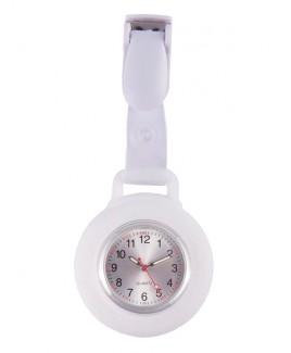 Reloj Enfermera Silicona Pinza Blanco