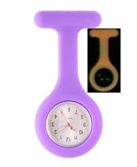 Reloj Enfermera Silicona Fluorescente Violeta
