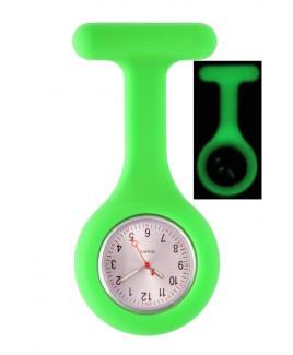 Reloj Enfermera Silicona Fluorescente Verde