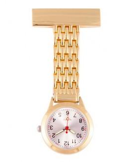 Reloj Enfermera Elegante Oro