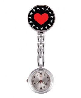 Reloj Enfermera Heart Bling