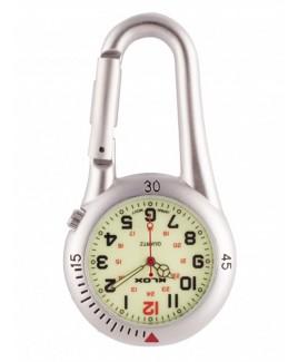 Reloj para enfermeras Mosquetón Plata NOC453
