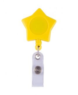 Enganche Retráctil Tarjeta Identificativa Estrella Amarilla