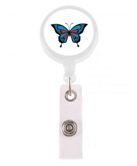 Porta Credenciales Retráctil Mariposa