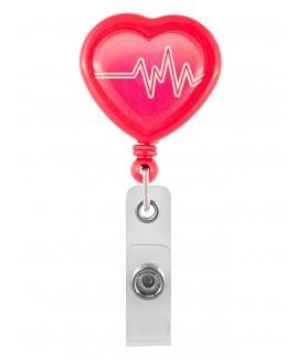 Enganche Retráctil Tarjeta Identificativa Corazón ECG