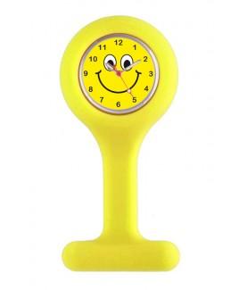 Reloj para Enfermera Silicona Smiley Amarillo