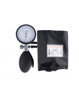 Esfigmomanómetro de doble tubo Aneroide con Funda Negro