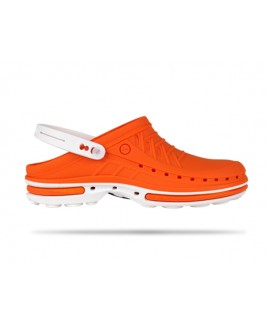 Wock Clog 05 Blanco / Naranja
