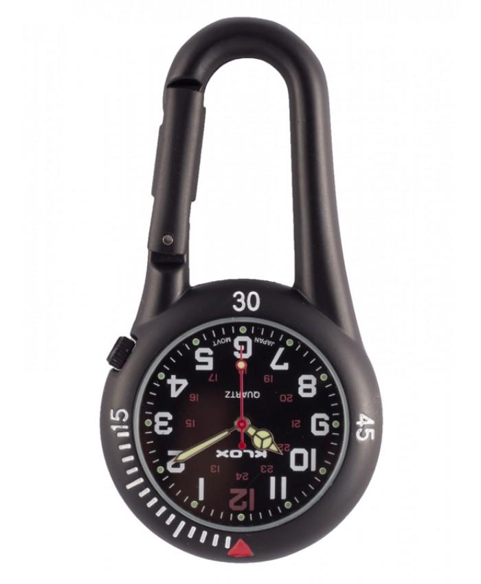 Noc450 Enfermera Negro Reloj Mosquetón Reloj Mosquetón Enfermera BrdCxoe